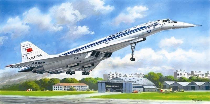 ICM 14402 Tupolev Tu-144D Soviet airliner 1 144 unassembled plastic model kit