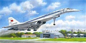 ICM-14402-Tupolev-Tu-144D-Soviet-airliner-1-144-unassembled-plastic-model-kit