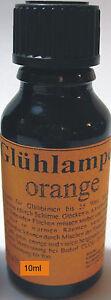 189-00-L-10ml-Gluehlampen-Tauchlack-orange-Lampenlack-Neu-ab-Grosslager