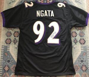 Details about Ravens Haloti Ngata #92 Black Autographed Jersey L / XL