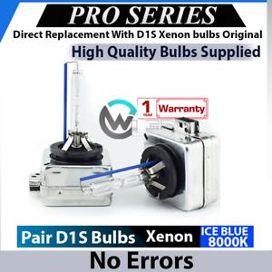 2x D1S Bulbs Xenon ICE BLUE 8000K 35W Low Beam Headlights Citroen C5 III 08-16