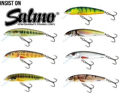 Salmo Minnow Floating 7cm Crankbaits Hard Plastic Lure Fishing
