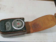 Antique GE Type DW-68 Light Meter with nice Leather Case