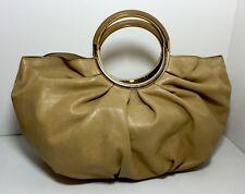 CHRISTIAN DIOR 'Babe' Beige / Camel Leather Handbag Hand Bag