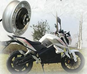 High Power 4kw 72v Brushless Electric Motorcycle Scooter Hub Motor 43 62mph New Ebay