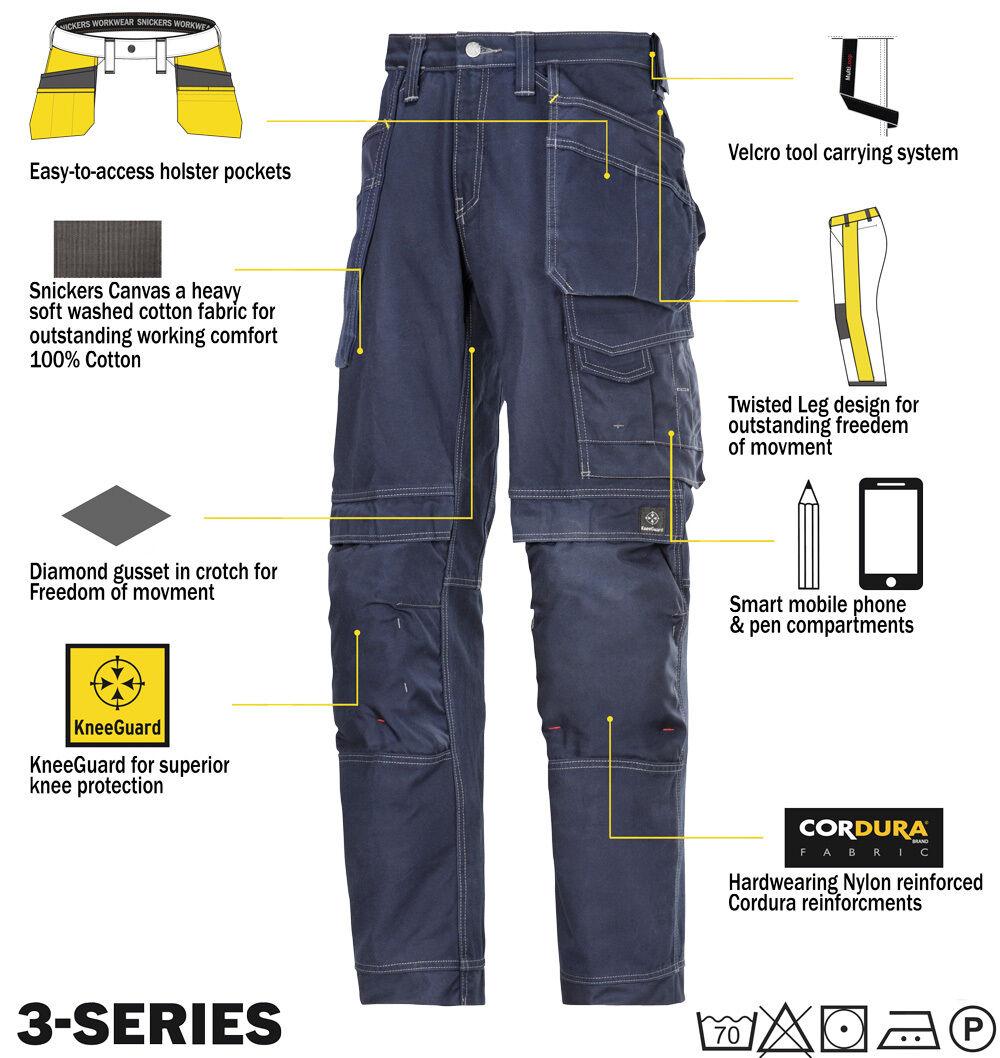 Venta de liquidación de temporada Snickers 3215 cómodo algodón pantalones de Trabajo Snickers Directa azul marino