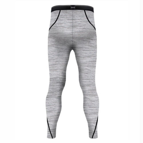 Take Five Mens Lined Skin Tight Compression Base Layer Running Pants Gray NP514