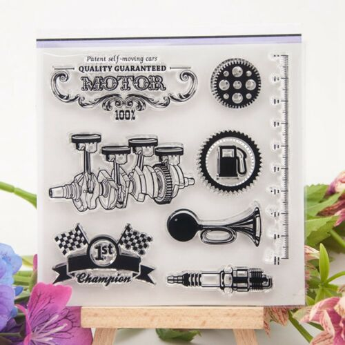 Retro Car Motor Transparent Silicone Rubber Stamp Cling DIY Scrapbooking Card HI