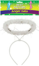 White Fluffy Halo Angel Head Band Hen Night Angel Fairy Christmas Fancy Dress