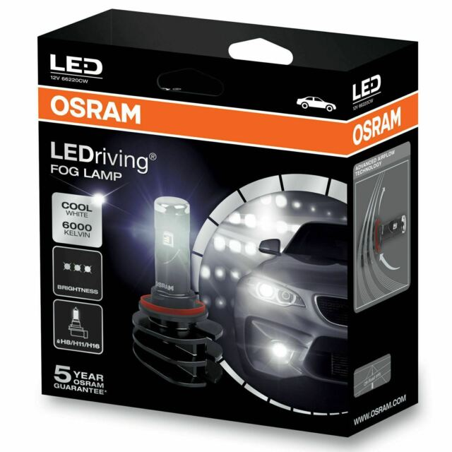 66220CW OSRAM Led Ambient Fog Lamp Connect Replaces H8/H11/H16