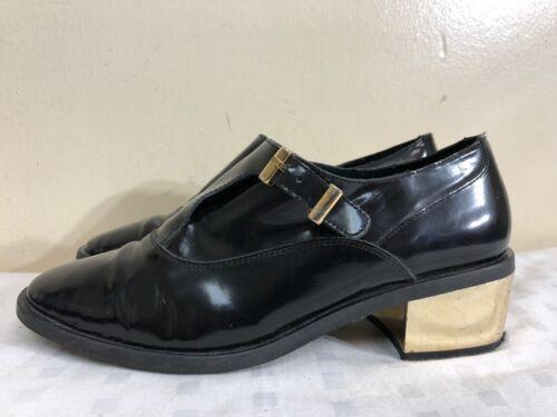 Miista black leather vintage buckle  shoes size E