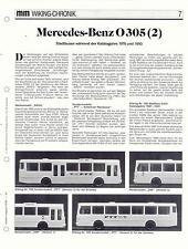 WIKING CHRONIK MERCEDES-BENZ STADT-BUS O 305  Teil 2,  von 1993