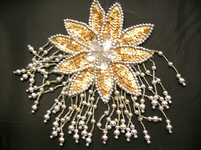 Flower Beaded Sequin Appliques