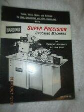 Vintage Hardinge Super Precision Chucking Machines Milling Boring Lathe Brochure