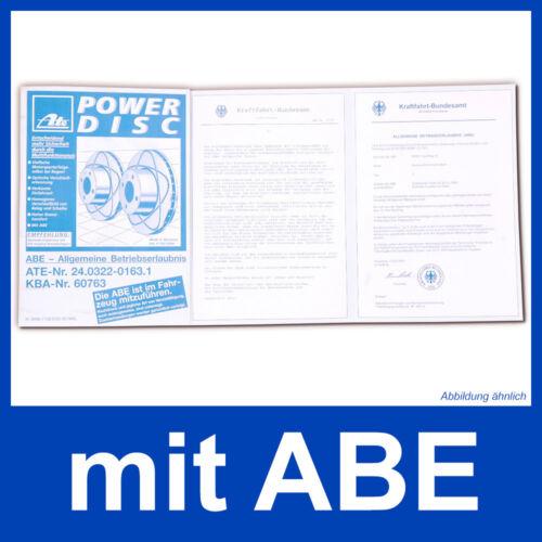 ATE POWERDISC SCHEIBEN+CERAMIC HINTEN VW PASSAT 3B,3BG AUDI A6 C5 SKODA SUPERB