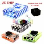 Raspberry Pi B+/2/3 Model B Protective Enclosure Shell Case Moster Heatsink Fan