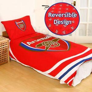 Arsenal-FC-Impulsion-Housse-Couette-Simple-et-Taie-Set-Polycoton-Literie-Neuf