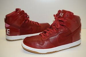 Nike Dunk High Lux SP Men's Sneaker Shoes 718790 661 Red Leather Sz US 10 NEW