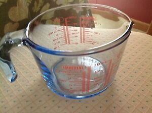 Imperial Blue Glass 1 Qt./1 Litre Measuring Cup