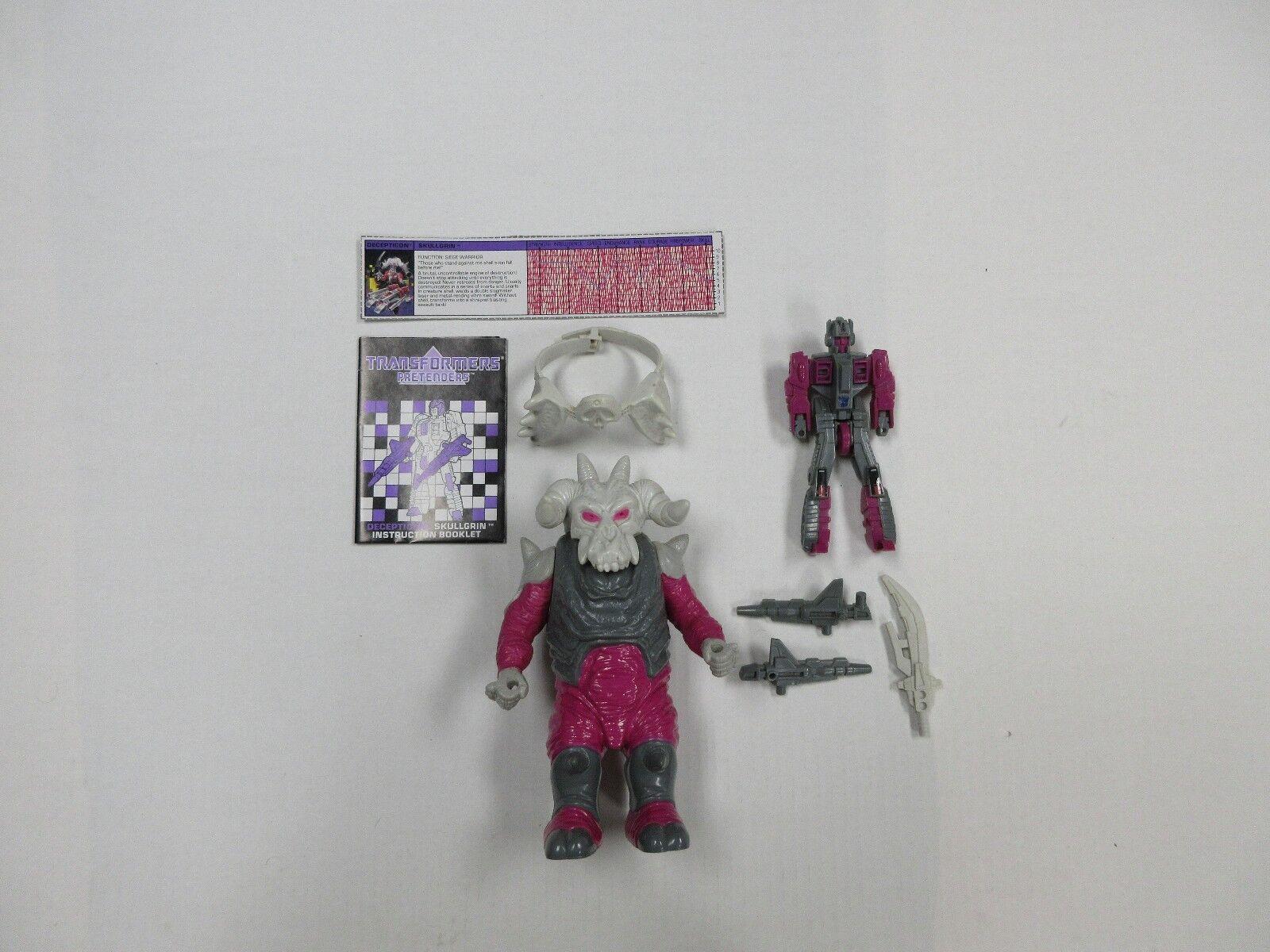 1988 G1 Transformers Pretender Skullgrin 100% complet robot avec instructions  +++  chaud