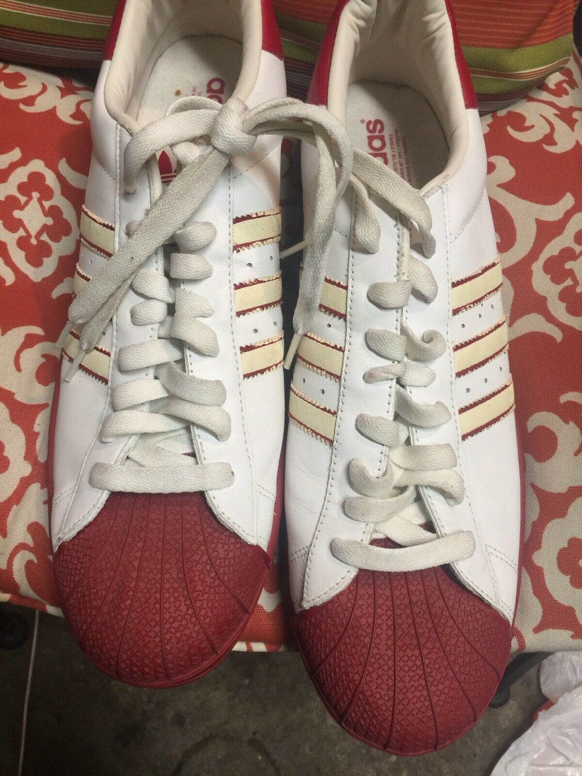 Adidas Vintage Sport shoes Size 18 White Ref Good Condition