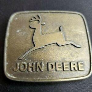John Deere Small Brass Belt Buckle, 1981, Moline, IL