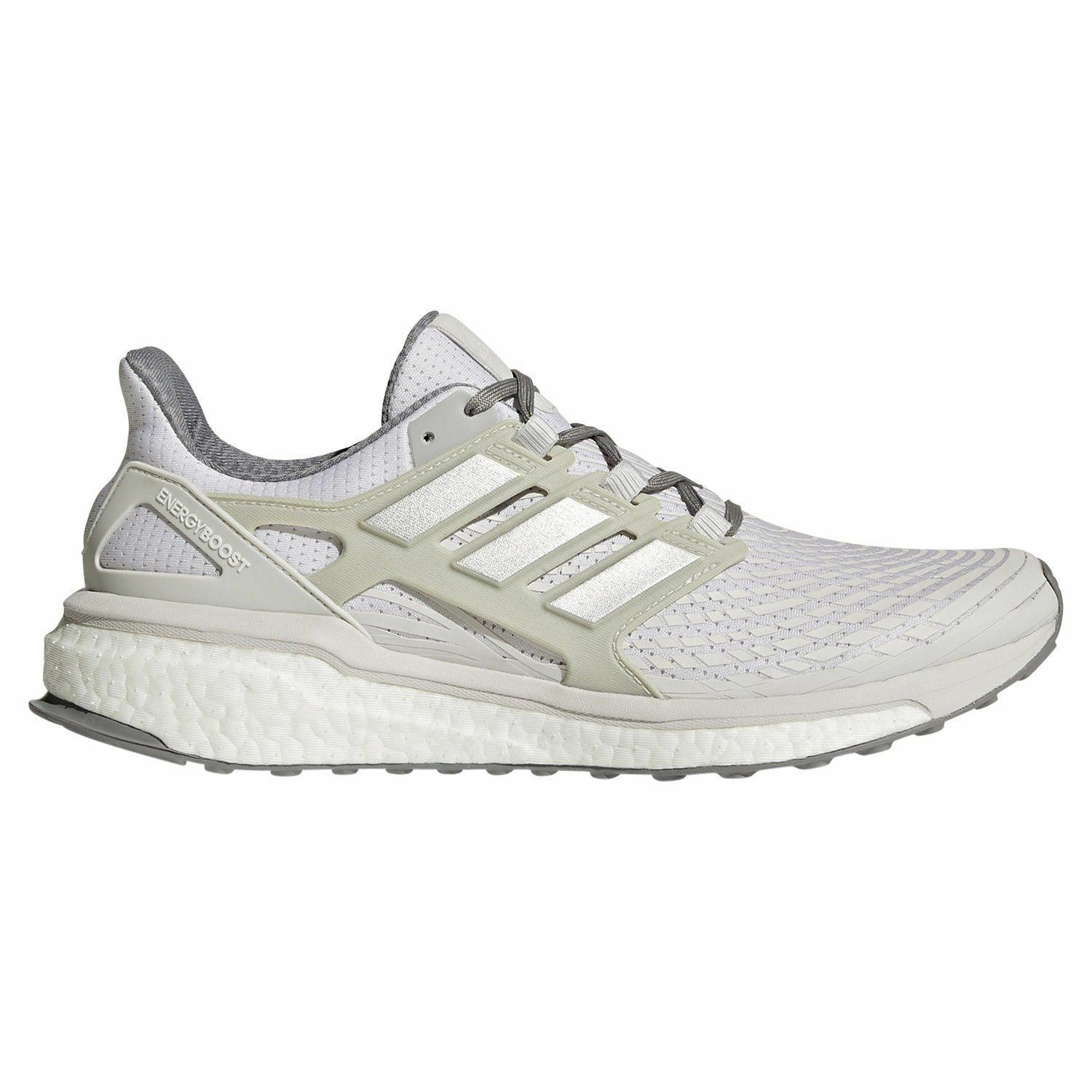 Adidas MEN'S ENERGY BOOST RUNNING TRAINERS WHITE running COMFY SNEAKERS SHOE NEW