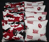 Cornhole Beanbags Made W University Of Oklahoma Sooners Fabric Ou Double Sided