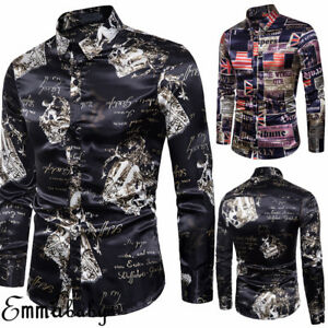 Men-039-s-Luxury-Slim-Fit-Formal-Casual-Shirts-Long-Sleeve-Business-Dress-Shirt-Tops