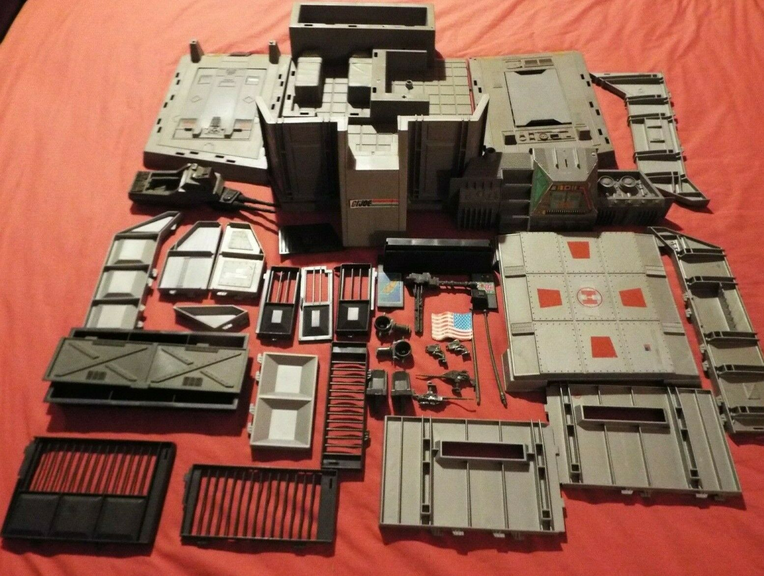 G.I.JOE, ACTION FORCE HEADQUARTERS COMMAND CENTER FROM 1983 NEAR COMPLETE