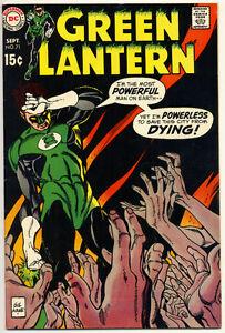 GREEN-LANTERN-71-VG-Gil-Kane-C-A-DC-Comics-1969-Stock-Image