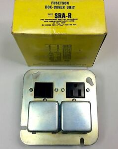 BUSSMANN SRA-R FUSETRON BOX COVER UNIT 15A 125V NEW IN BOX