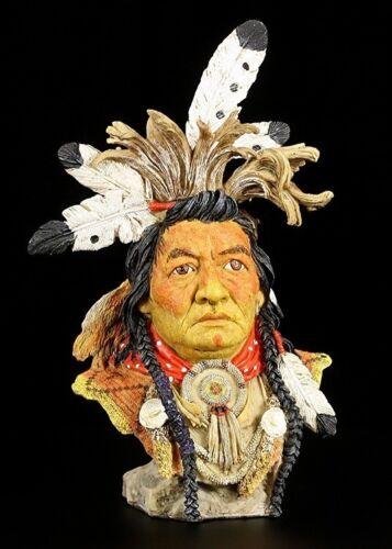 VERONESE Figurine occidental déco INDIEN Buste Kalispel