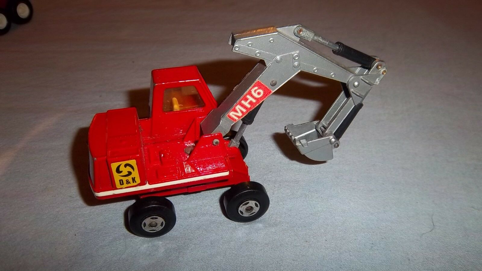 Vintage 1970 Matchbox King Size HYDRAULIC EXCAVATOR No. K1 Excellent Condition
