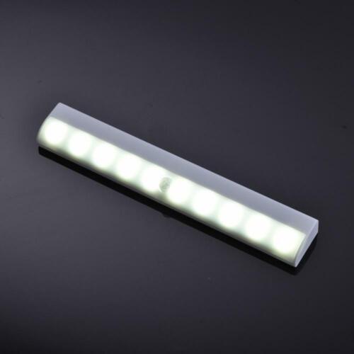 10LED Motion PIR Sensor Licht Drahtlose Garderobe Schrank Schrank Nachtlampe DE