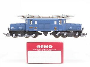 HOm-Gauge-Bemo-1255-142-RhB-Ge-6-6-I-Electric-Loco-412-Glacier-Express-75th-Yr