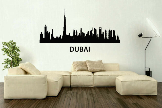 New York Word Logo Skyline Building Skyscrapers Wall Decal Art Sticker Picture