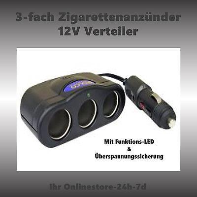 Dreifach Steckdose KFZ Zigarettenanzuender Auto Zigarettenanzuender Verteil E9B1