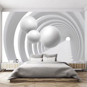 fototapete 3d 366 x 254 schwarz wei tunnel. Black Bedroom Furniture Sets. Home Design Ideas