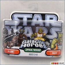 Star Wars Galactic Heroes 4-Lom + Bossk bounty hunters - worn dented packaging