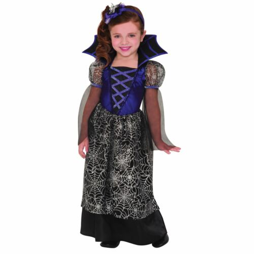 Miss Wicked Web Spider Vampire Princess Girls Toddler Kids Fancy Dress Costume