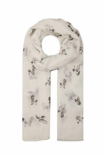 Donna Fashion Animale Cavallo Modello SOFT Autunno Inverno Primavera Estate Sciarpa Wrap