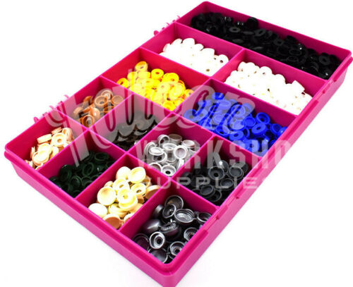 550 ASSORTED 6g//8g SMALL PLASTIC HINGED SCREW COVER CAPS SIGN MAKERS CAR KIT