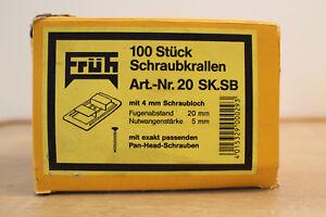 Frueh-100-St-Schraubkrallen-Metallkrallen-Profilbrett-Krallen-Schrauben-20SK-SB