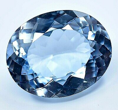 12.61 Ct Museum Blue Aquamarine Excellent Oval Cut CERTIFIED Natural Gemstone   eBay