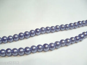 JOB-LOT-of-10-strings-x-Glass-Pearl-6mm-Round-Beads-69B-Steel-Blue-1440-beads