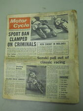 Motor Cycle Newspaper, March 13, 1968, Sport Ban Clamped on Criminals.   MCNP 68