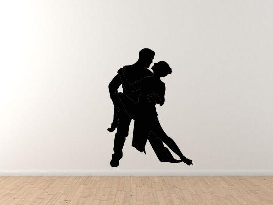 Tango Latin Salsa Samba Dance - Couple Pair Version 1 - Vinyl Wall Decal