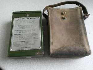 VINTAGE-MILITARY-SCIENTIFIC-OSCILLATOR-NO-87B-IN-POUCH