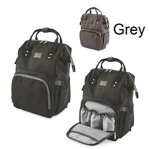 Baby-Changing-Back-Pack-Bag-Stroller-Attachment-Change-Mat-Multi-Pocket-GREY